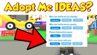 10 IDEAS to HELP IMPROVE ADOPT ME - (ROBLOX ADOPT ME IDEAS)
