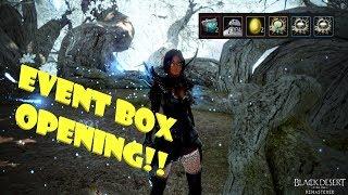 Black Desert Online - Event Box Opening!! Boss items / Yellow jewelry !!??