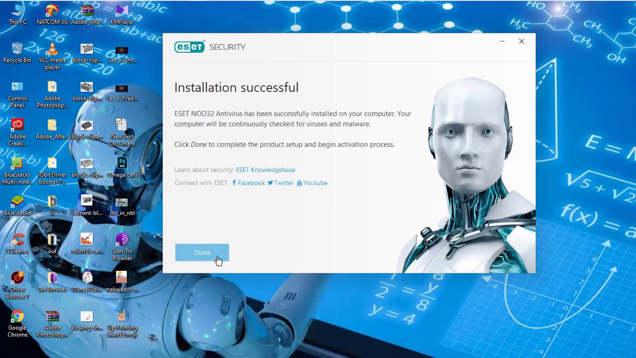 ESET NOD32 Antivirus 13.0 License Key till 2022 - YouTube