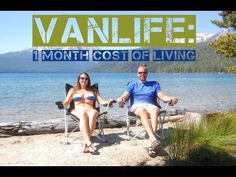 Van Life 1 Month Cost of Living