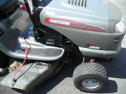Craftsman 42 Quot 18 5 Hp Lawn Tractor Lt 2000 Youtube