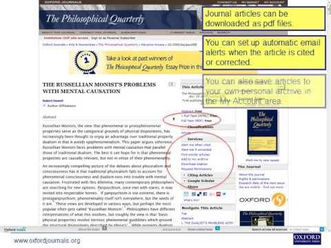 Oxford University Press Online Philosophy Resources