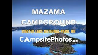 Mazama Campround, Crater Lake National Park, Oregon Campsite Photos