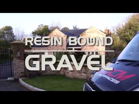 DCM installing Resin Bound Gravel on a Driveway