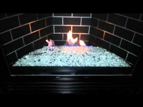 DIY GNDC33 Heatilator Gas Fireplace Conversion to Fire Glass Rock or Stones & Removed Logs.