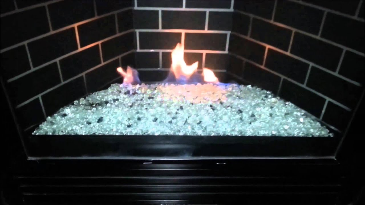 Gas Fireplace Starter Pipe Diy Gndc33 Heatilator Gas Fireplace Conversion To Fire Glass Rock Or Stones Removed Logs