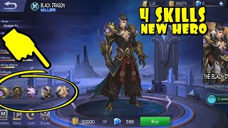 Black Dragon| NEW HERO(gameplay)In Mobile Legends