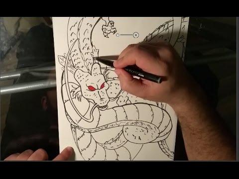 Comment Dessiner Le Dragon Shenron Dragon Ball Pas à Pas Drawing A Dragon Shenron