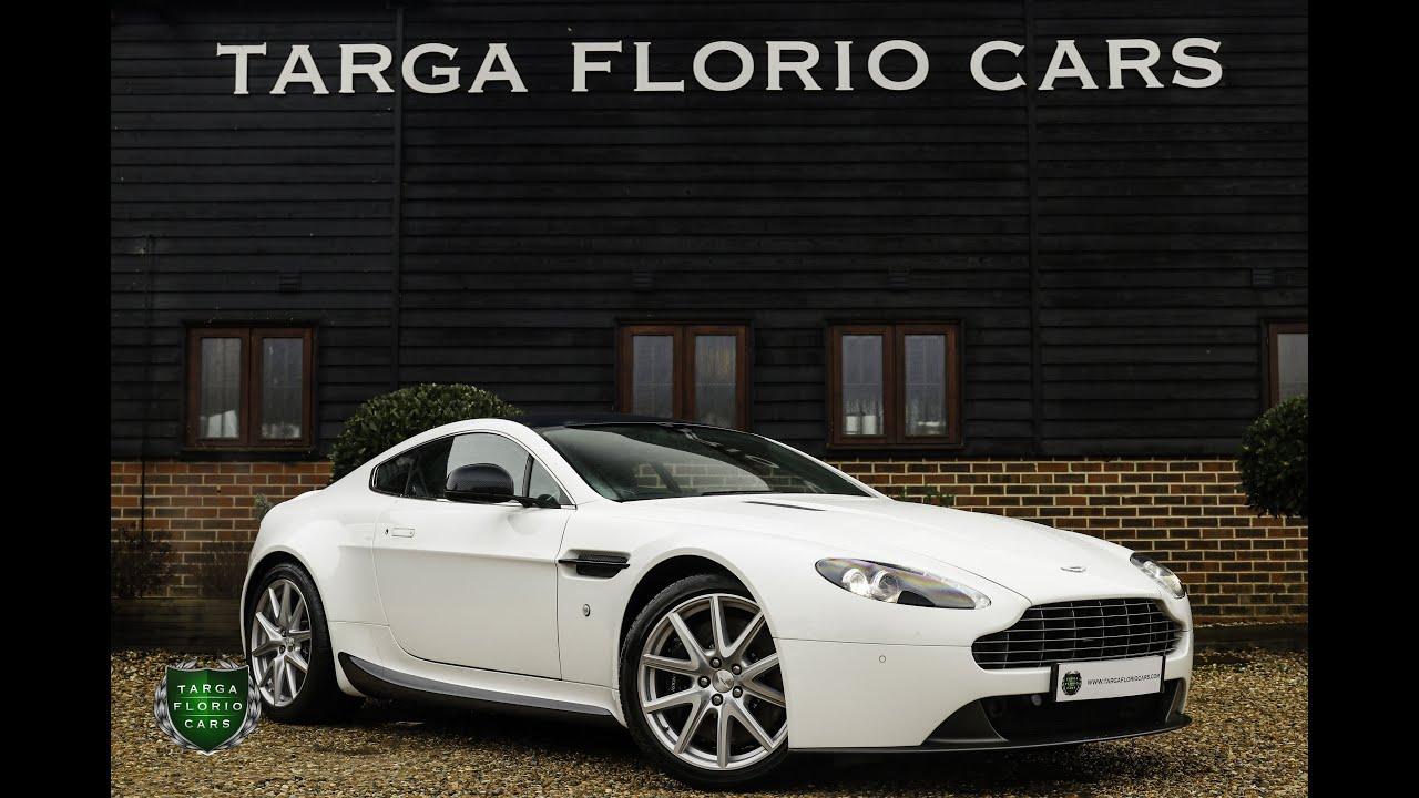 Aston Martin Vantage 4 7 V8 Sportshift 420 2dr Manual Coupe In Stratus White 2013 Youtube