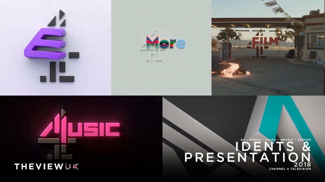Download E4, More4, Film4, 4Music & 4seven   2018 Idents & Presentation   2018-