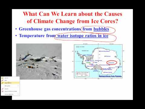 Climate Change from Ice Cores
