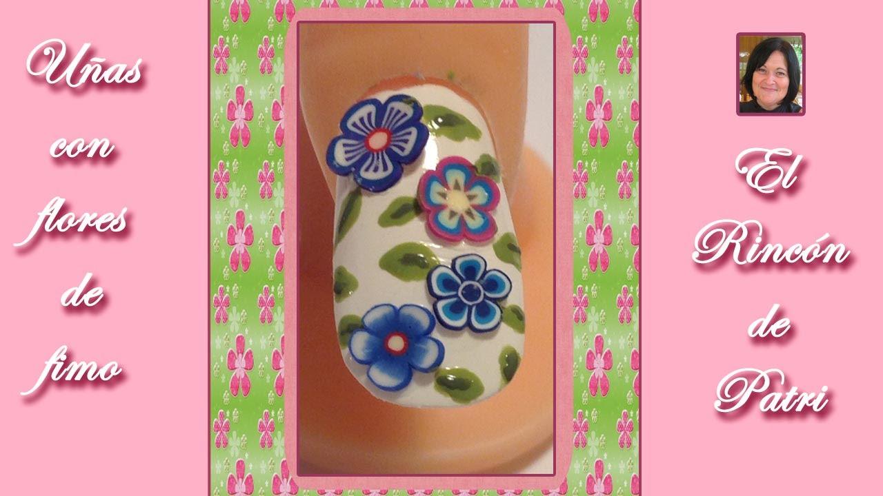 decoracion de uas con flores de fimouas faciles y bonitas paso a paso