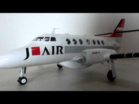 JETSTREAM 31(ジェットストリームJS31)のJ-AIR塗装仕様1/40ソリッドモデルをサンプル製作してみた(ウッドマンクラブ)