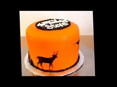 Hunting Silhouette Cake Design by Paisley Cakes in Blackfoot, Idaho