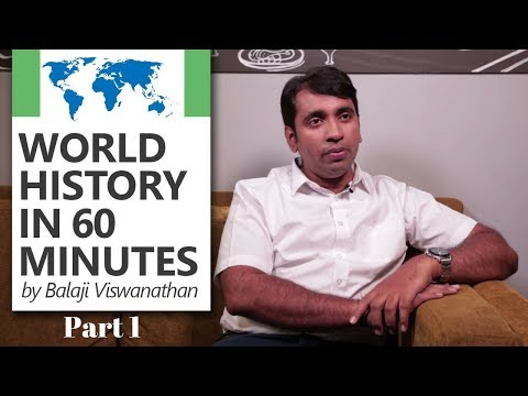 World History in 60 minutes by Balaji Viswanathan [World's Top Quora Writer] (Part 1/2)