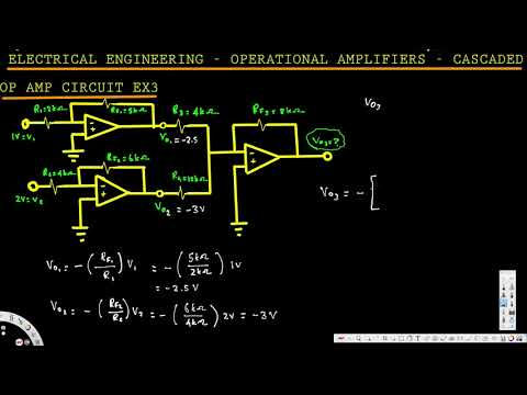 Electrical Engineering: Operational Amp - Cascaded Op-Amp Circuit: Example 3
