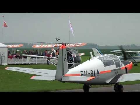 Aerospace Television  Saab 91D Safir Oostwold airshow 2013