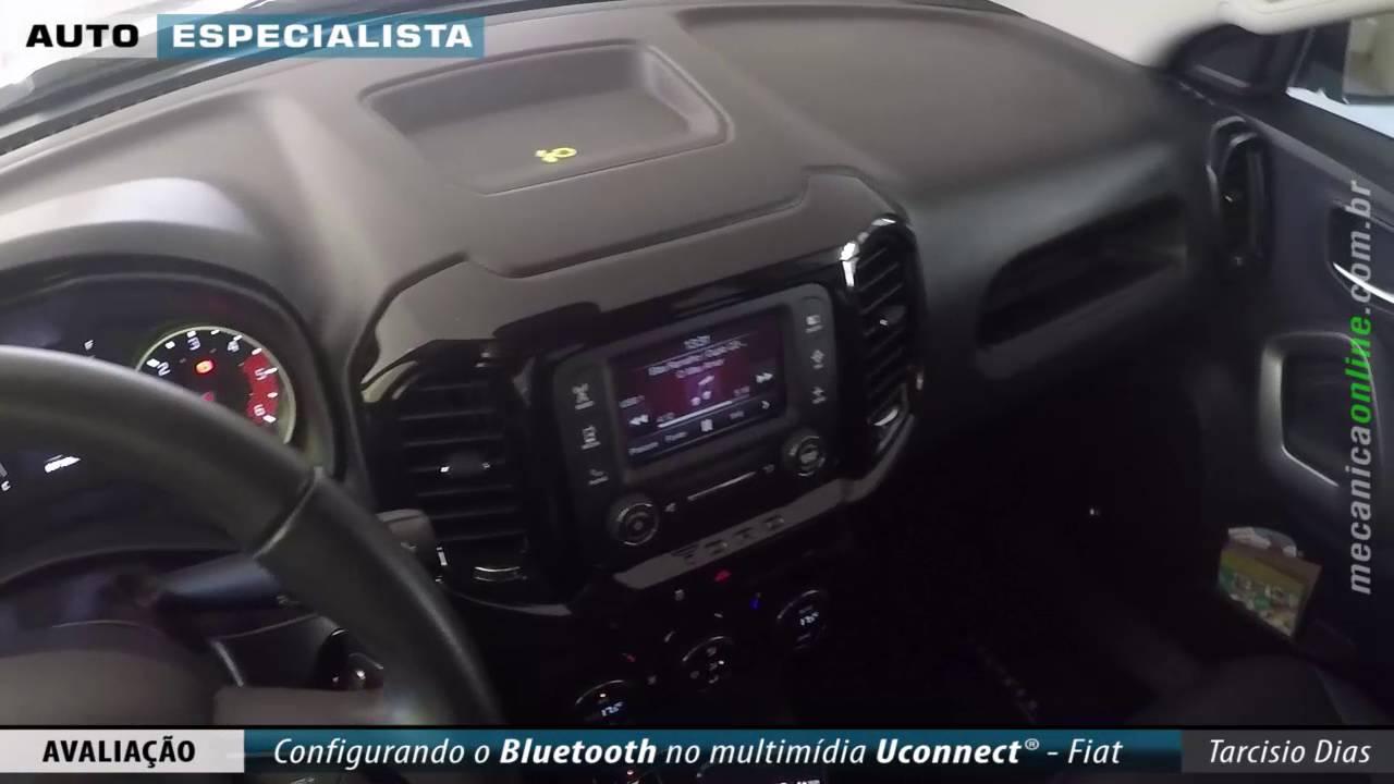 Fiat Uconnect® – Como configurar o celular via Bluetooth