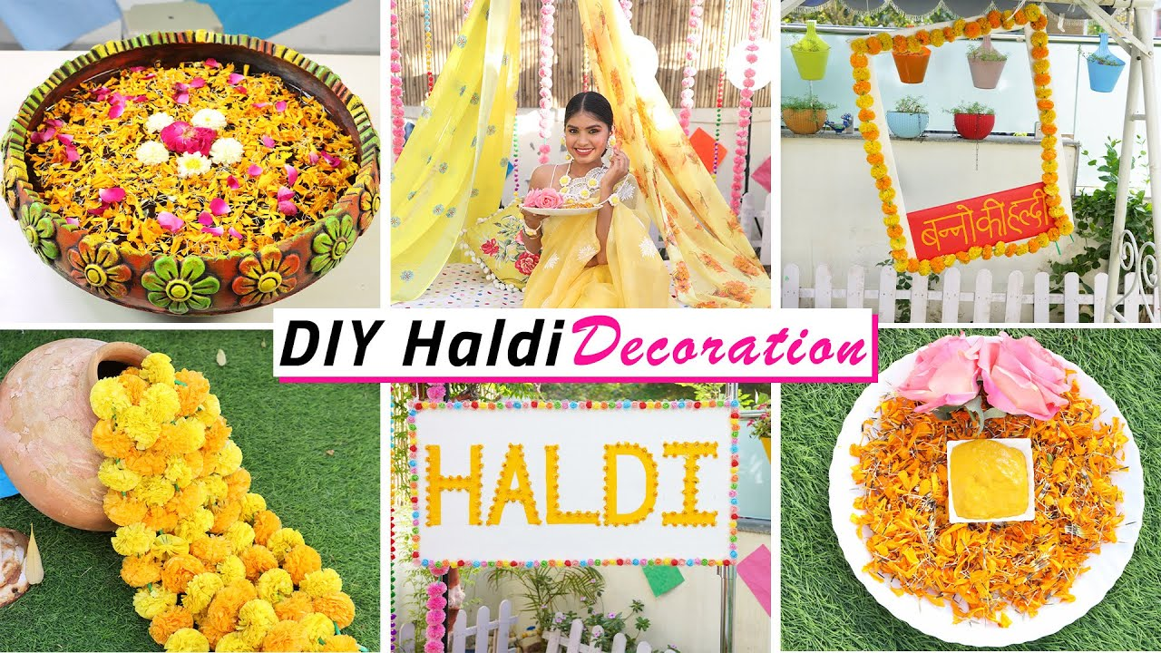 Haldi DIY Decoration | Ceremony ideas | DIY Queen