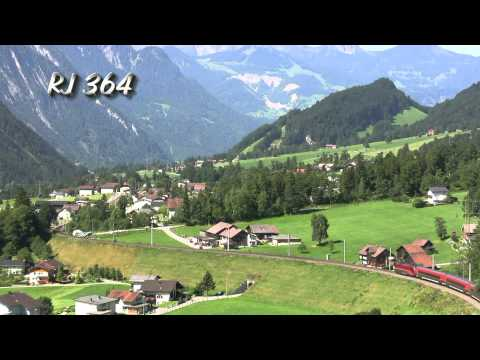 Arlbergbahn-Westrampe am 21.August 2013