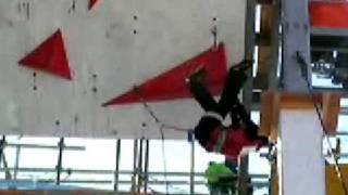 2009アイスクライミング・ジャパン杯 女子3位・安達選手