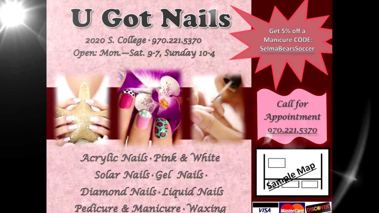 Nail Salon Sample Ad