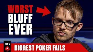 TOP 5 BIGGEST POKER FAILS ♠️ Poker Top 5 ♠️ PokerStars