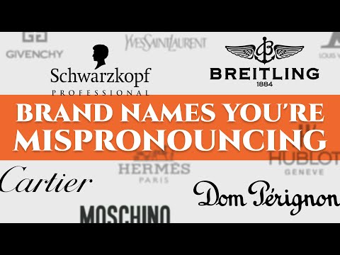 52 Luxury Car, Watch & Fashion Brand Names You're Mispronouncing - German, French, Italian...