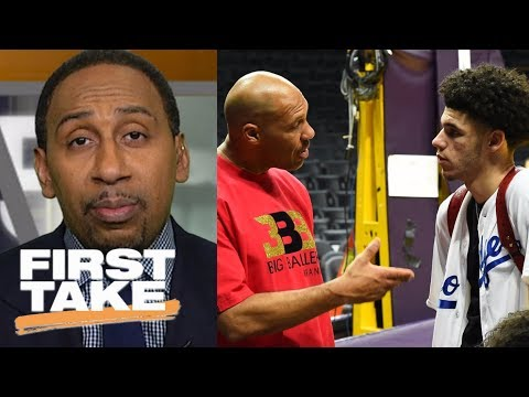 Stephen A. Smith: LaVar Ball knows how to get Lonzo to play better | First Take | ESPN