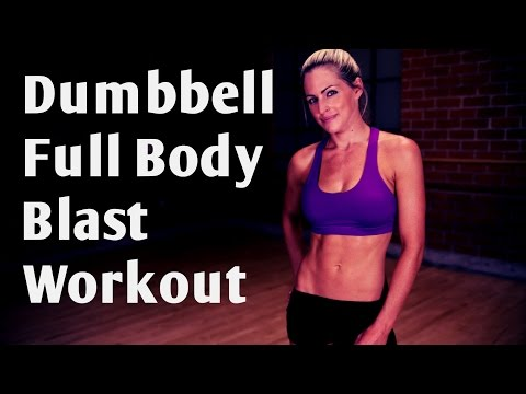 24 Minute Dumbbell Full Body Blast For Strength and Cardio