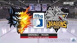 FINALE COUPE DE LA LIGUE 2015 Brûleurs de Loups Grenoble vs Dragons de Rouen BDL HOCKEY