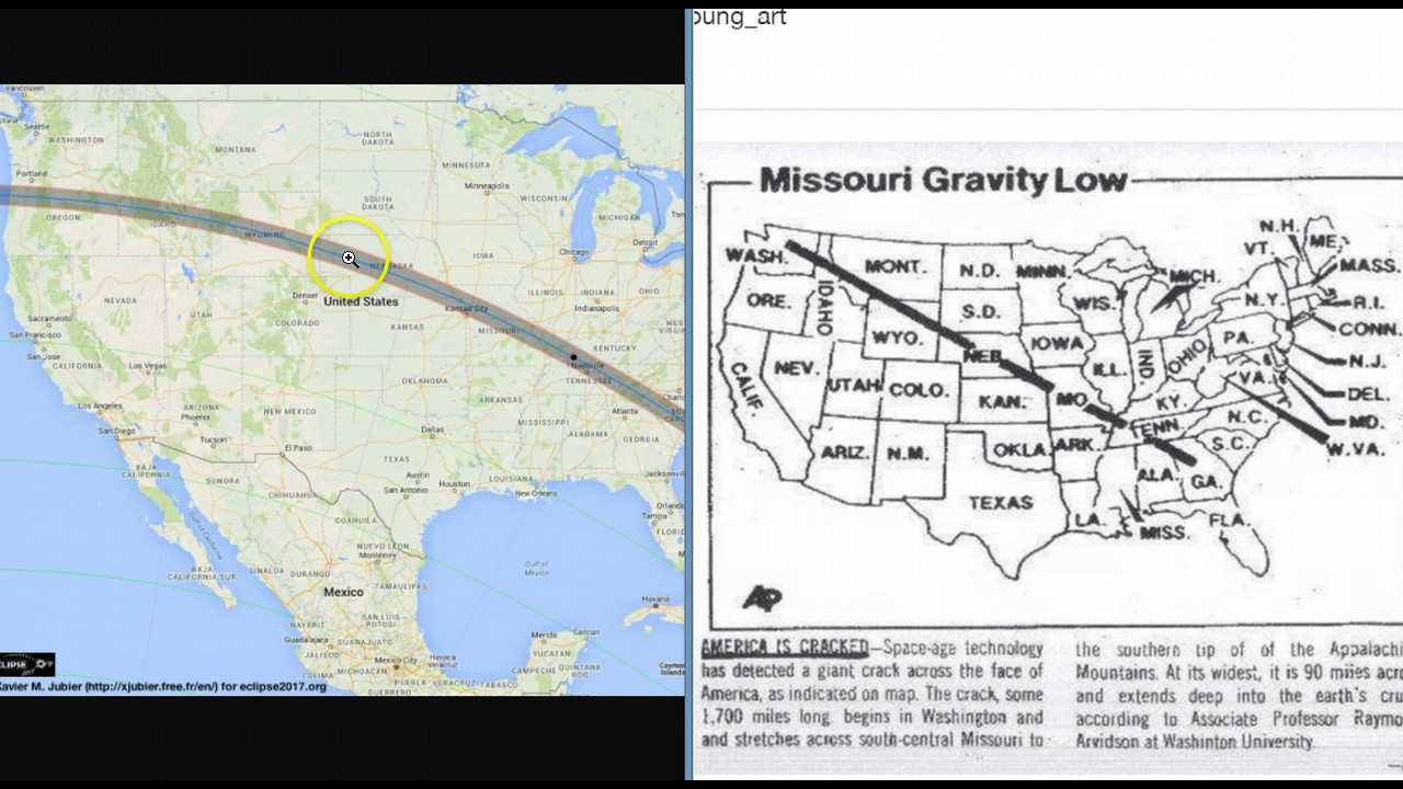 august 21st 2017 solar eclipse huge north american rift and new madrid