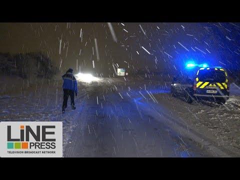 L'Ile-de-France devint l'Alaska avec 15cm de neige / Gometz-le-Châtel (91) - France 06 février 2018