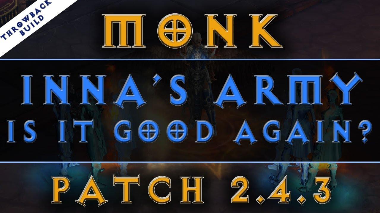 Diablo 3: Monk Build Inna's Army - Season 9