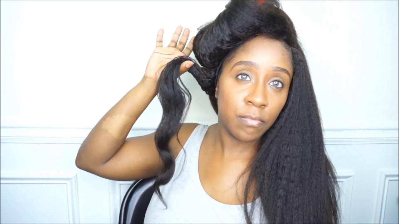 How I Install Style Peruvian Kinky Straight Hair Lavyhair Com Youtube