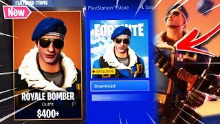 "*NEW* HOW TO GET THE ""ROYALE BOMBER SKIN"" PS4 EXCLUSIVE! FORTNITE NEW ROYALE BOMBER SKIN SHOWCASE!"