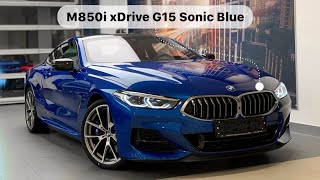 BMW M850i xDrive G15 Sonic Blue 2019