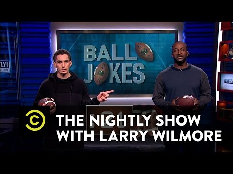 The Nightly Show - Deflategate - Mike Yard & Ricky Velez - YouTube