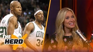 Paul Pierce wants to bury the hatchet with Ray Allen - Kristine and Colin React | THE HERD
