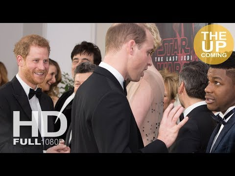 Prince William and Prince Harry meet the Star Wars cast at London premiere