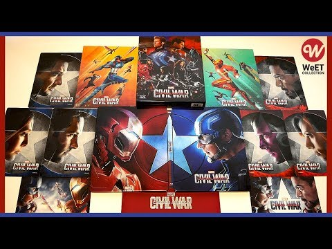 captain-america:-civil-war---full-slip-3d-blu-ray-steelbook-unboxing---weet-collection-exclusive