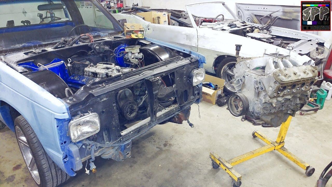 Removing Tpi 305 Engine For 5 3 L33 Ls V8 Swap S10 7875