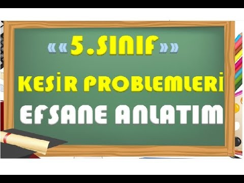 5.Sınıf Matematik Kesir Problemleri-Yardımcı Öğretmen