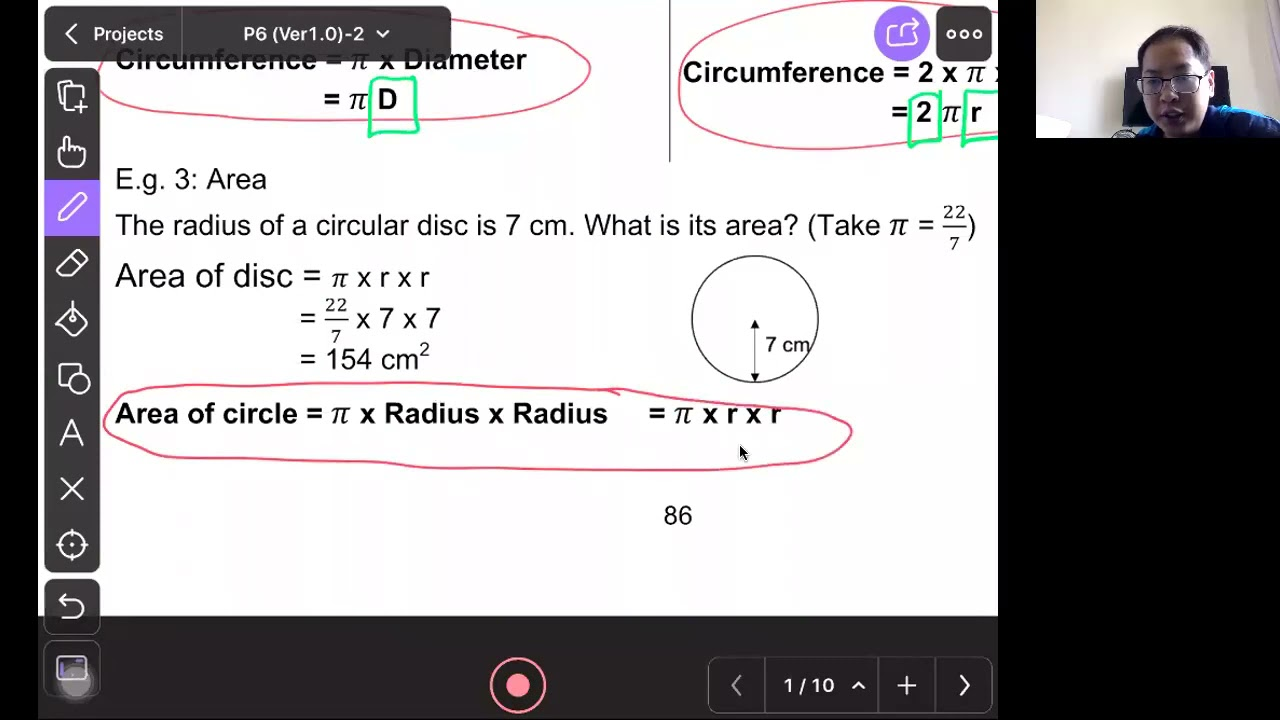 P6 Math : Area of Circle and Composite Figure
