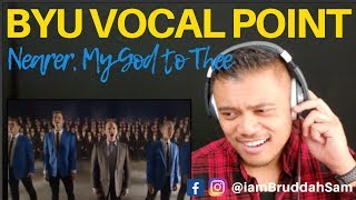 BYU VOCAL POINT singing NEARER, MY GOD TO THEE | Drive Thru REACTION vids with Bruddah Sam