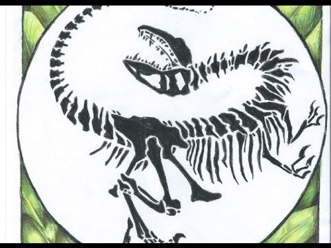 Drawing a Velociraptor Skeleton/ - 35.5KB
