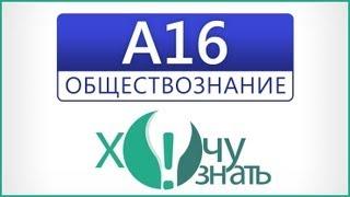 A16 по Обществознанию Подготовка к ЕГЭ 2012 Видеоурок