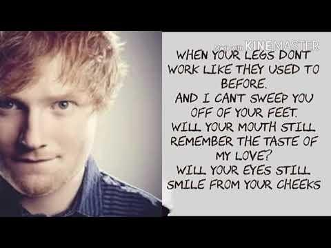 Thinking out loud song by Ed Sheeran lyrics