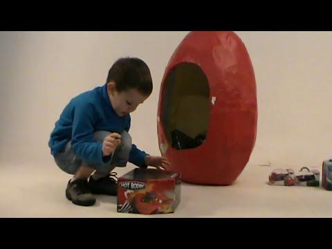 Giant Disney CARS surprise egg toys Дисней Тачки Огромное яйцо игрушки