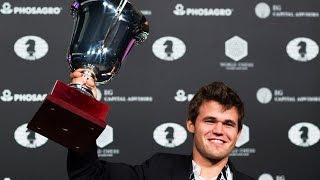 Magnus Carlsen heimsmeistari í skák árið 2016